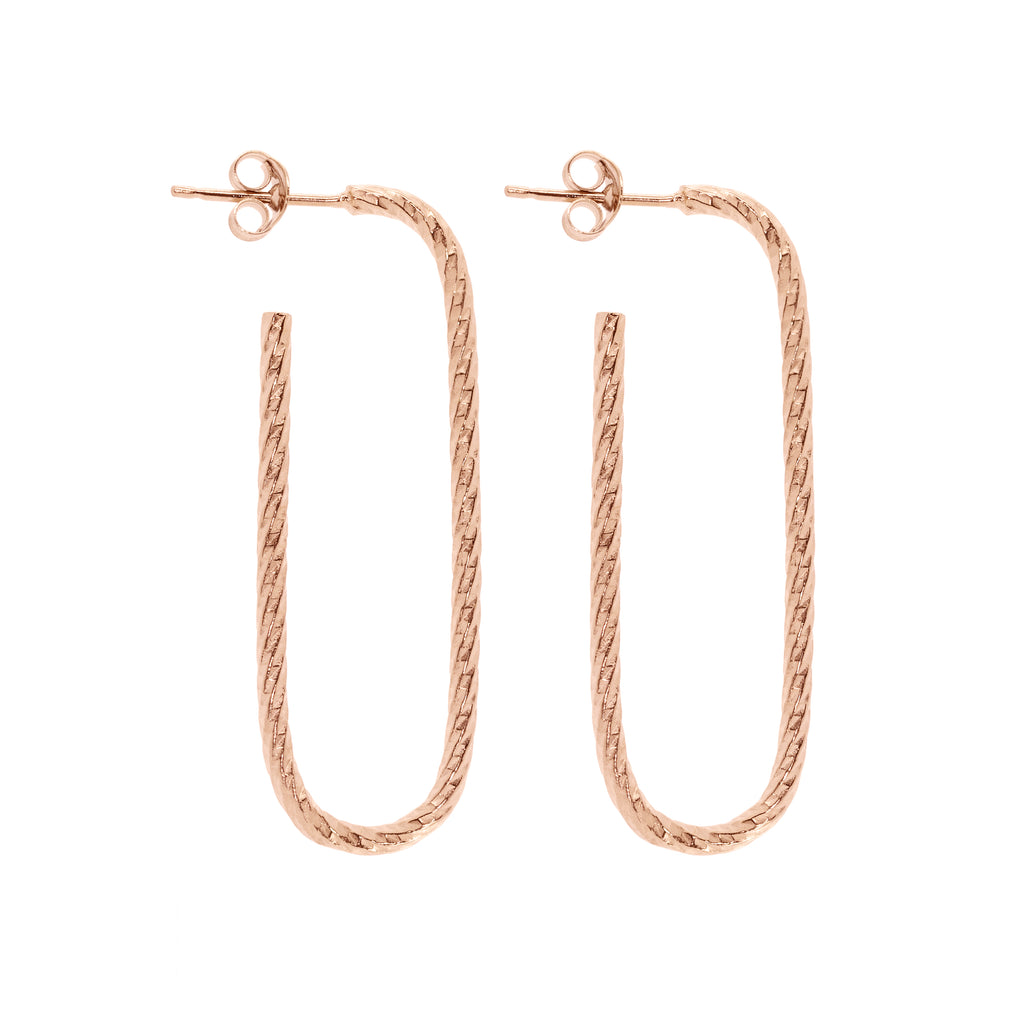 Lovers Link Earrings - Rose Gold