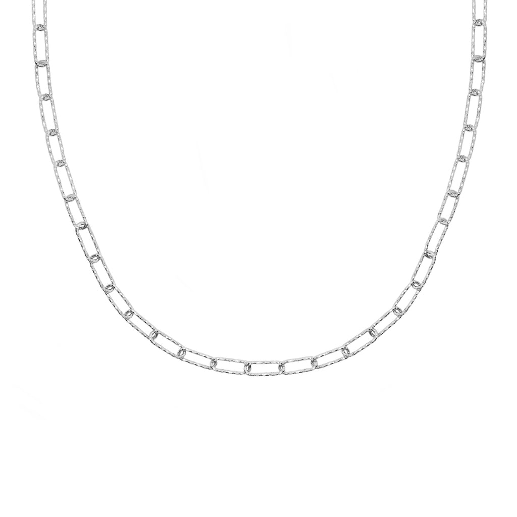 Lovers Link Chain Necklace - Silver
