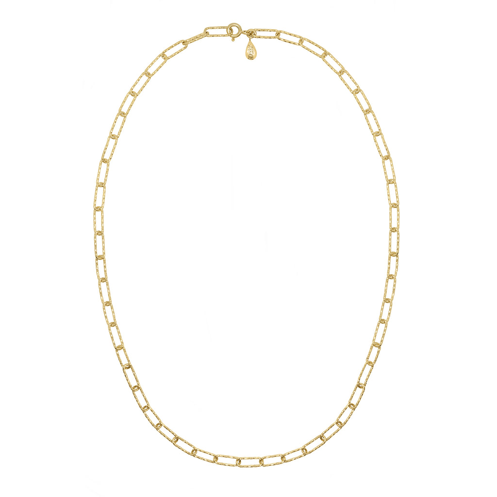 Lovers Link Chain Necklace - Gold