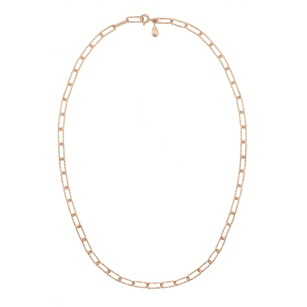 Lovers Link Chain Necklace - Rose Gold