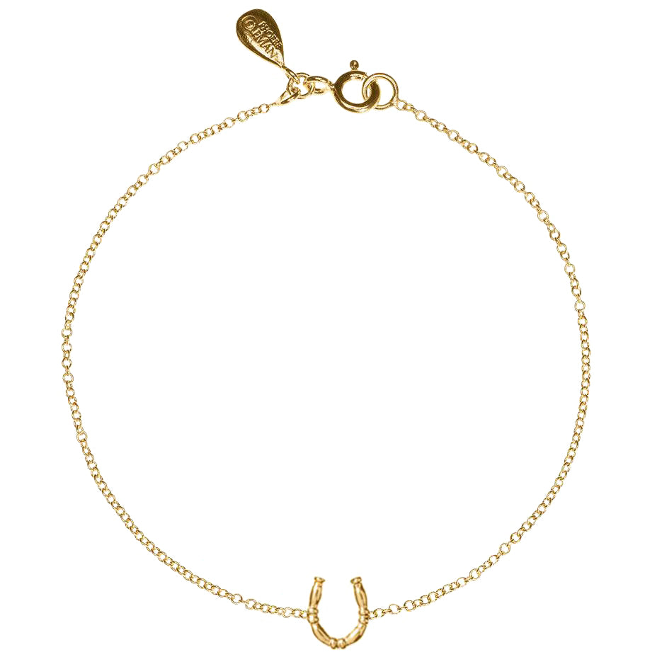 Lucky Horseshoe Anklet - Gold