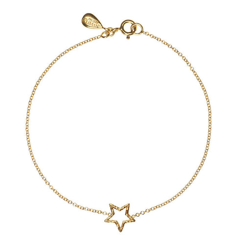Estella Star bracelet in gold, featuring a shining star made from our signature sparkling wire.