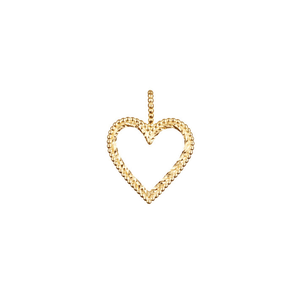 Open Your Heart Charm - Gold