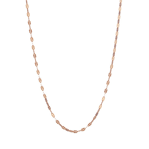 Petal Chain in rose gold, fashioned from simple oval links which have been hammered to make a beautiful feminine shape.