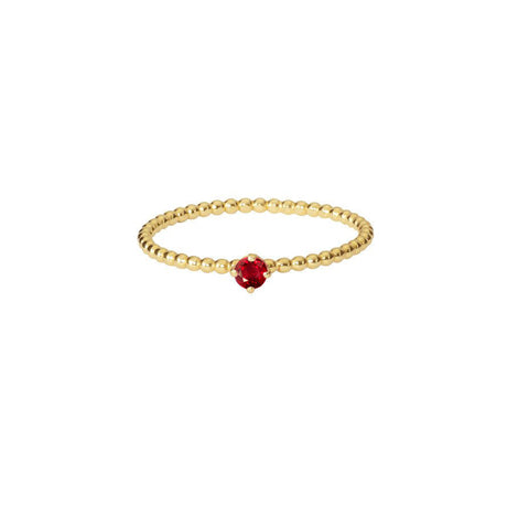 Venus Red Sapphire Ring - Gold