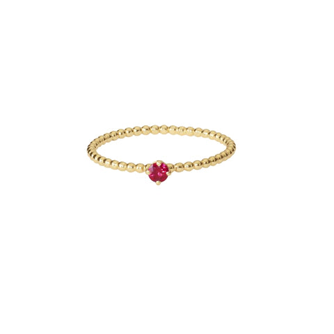 Rose Red Ruby Ring - Gold