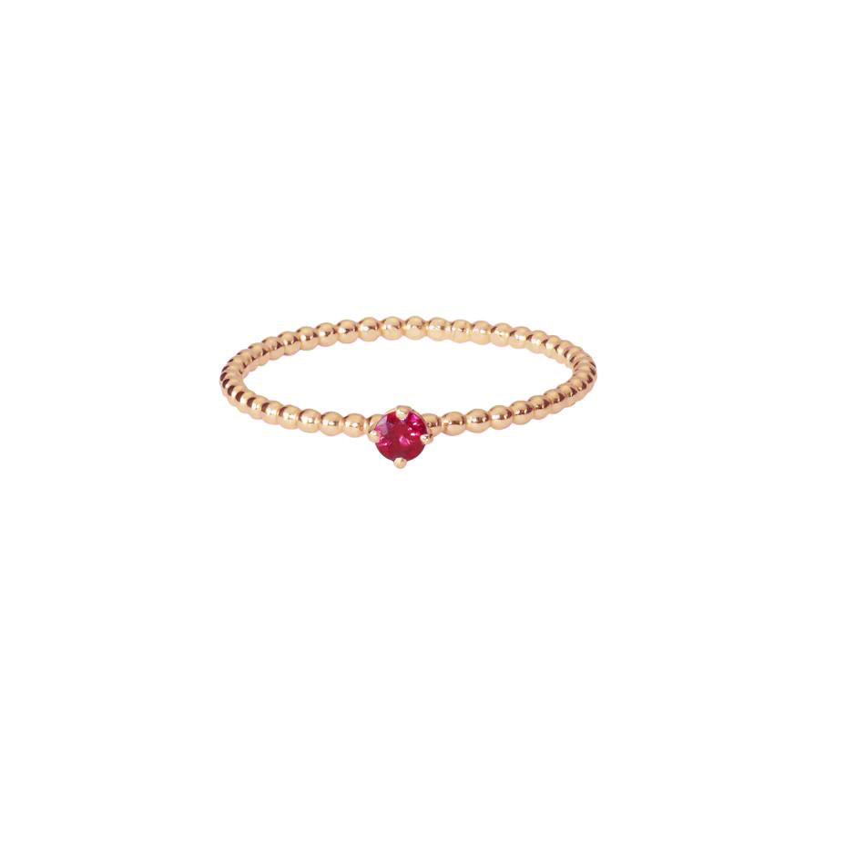 Rose Red Ruby Ring - Rose Gold
