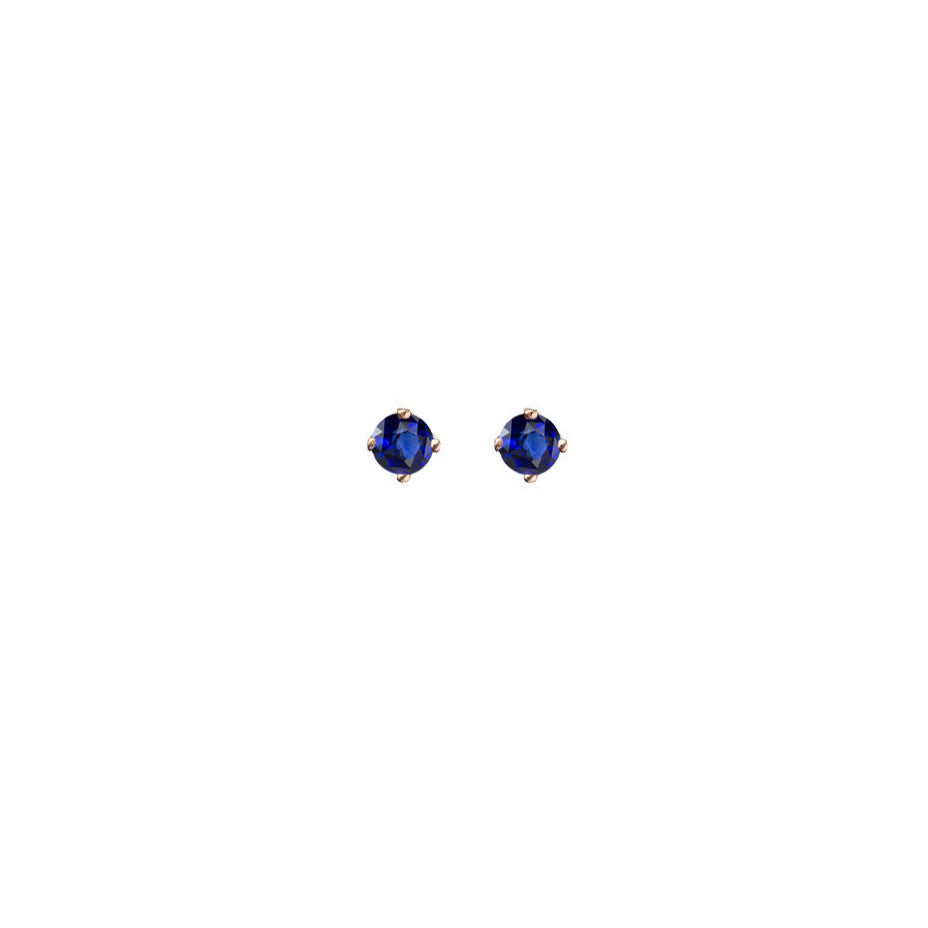 Royal Blue Sapphire Micro Stud Earring - 9ct gold
