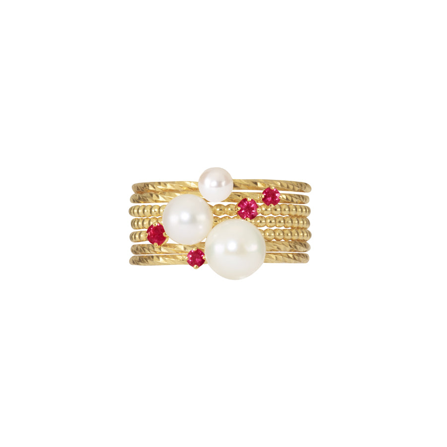 Ruby Dreamer Stacking Set - Gold
