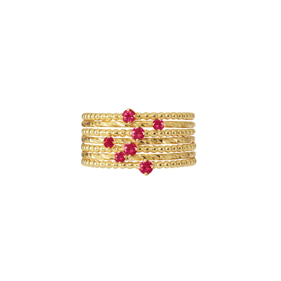 Ruby Purist Stacking Set - Gold