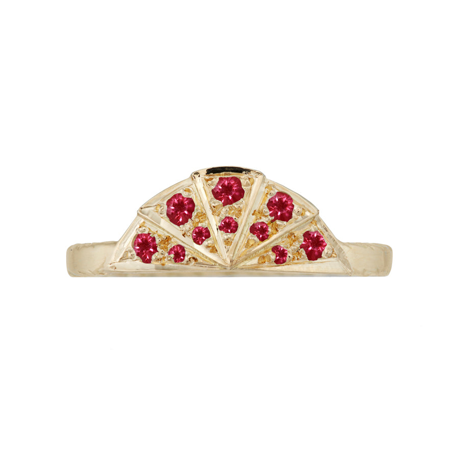 Ruby Sunbeam Wedding Band