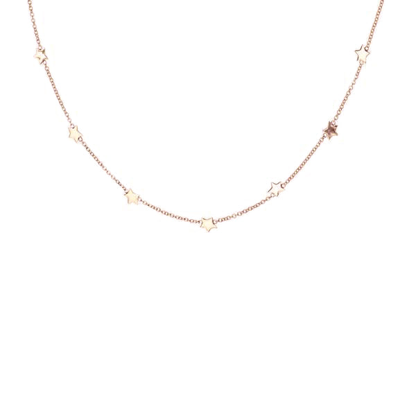 Seven Star Necklace - Rose Gold