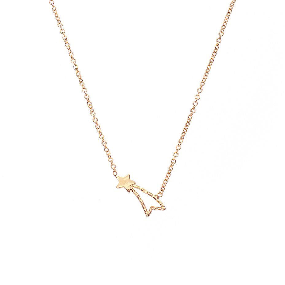 Shooting Star Necklace - Rose Gold