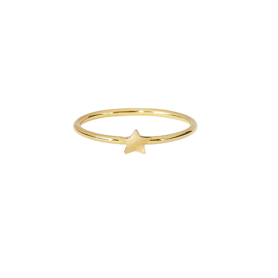 Star Stacking ring in gold.