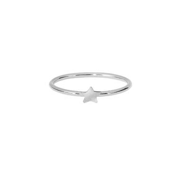 Star Stacking Ring - Silver