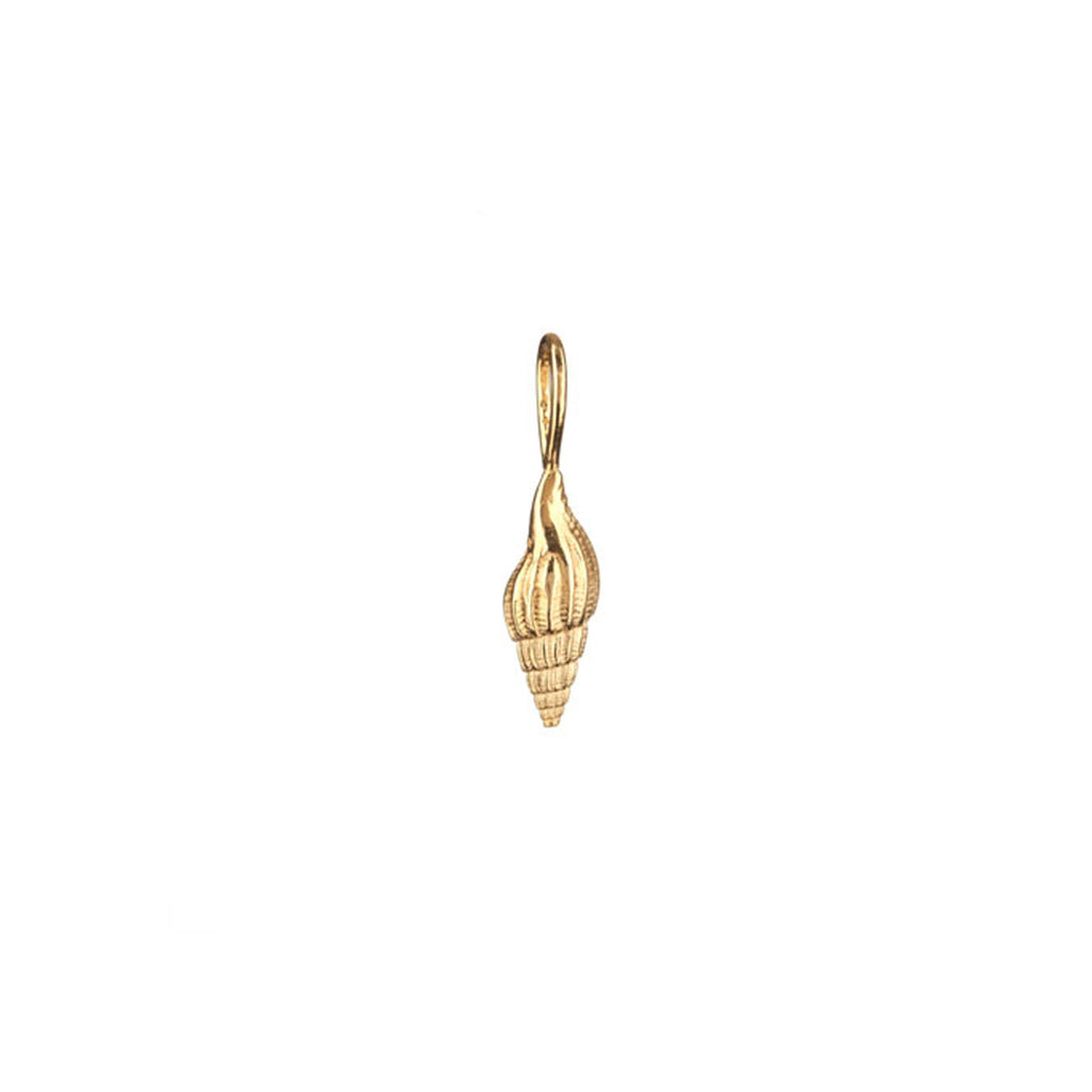 Sound of the Sea Shell charm in gold.