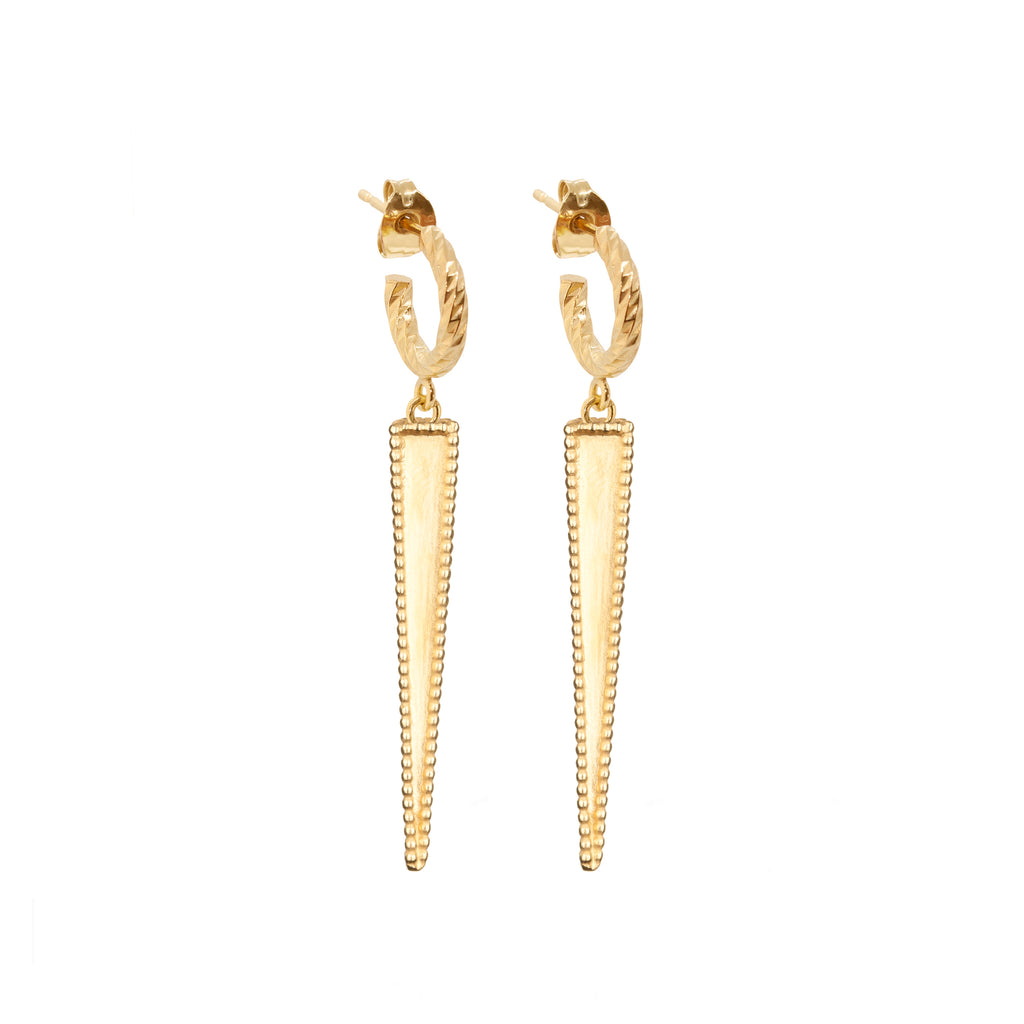 Twilight Drop Earrings - Gold
