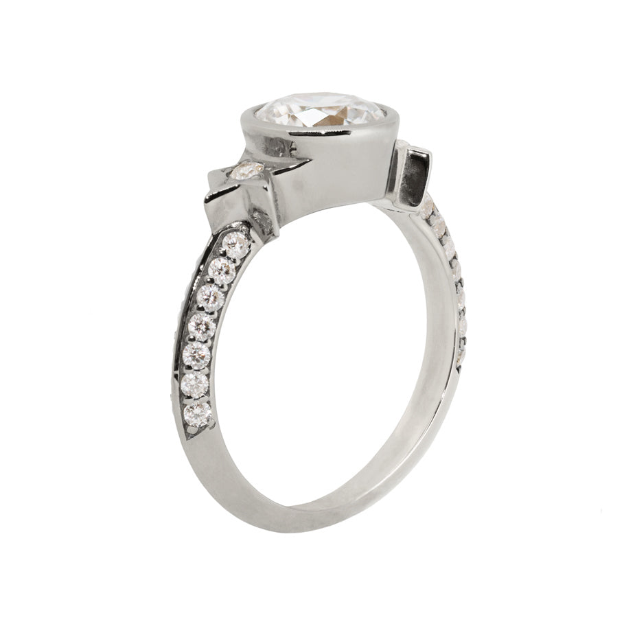 Nova Luna White Diamond Engagement Ring