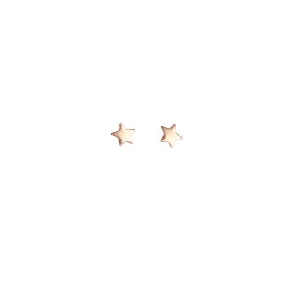 Star Bright Stud Earrings - Rose Gold
