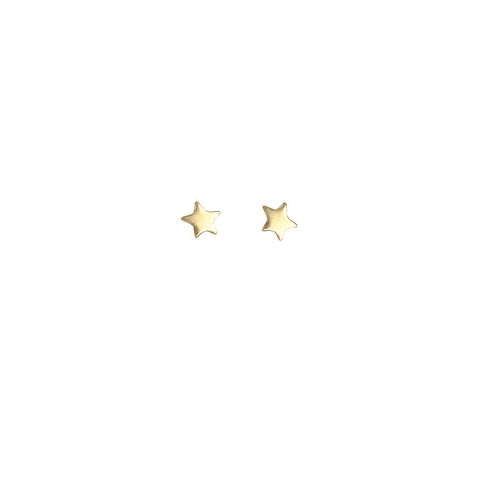 Star Bright Stud Earrings - Gold