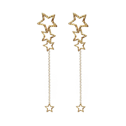 Star Gazer Earrings - Gold