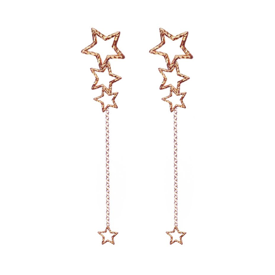 Star Gazer Earrings - Rose Gold