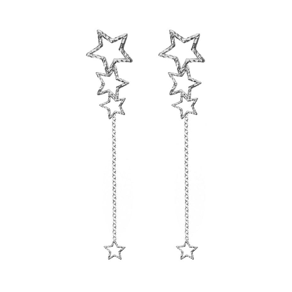 Star Gazer Earrings - Silver
