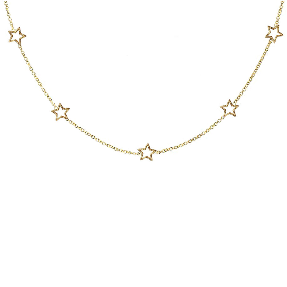 Star Gazer Necklace - Gold