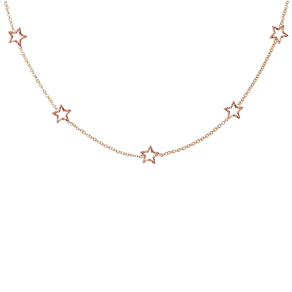 Star Gazer Necklace - Rose Gold