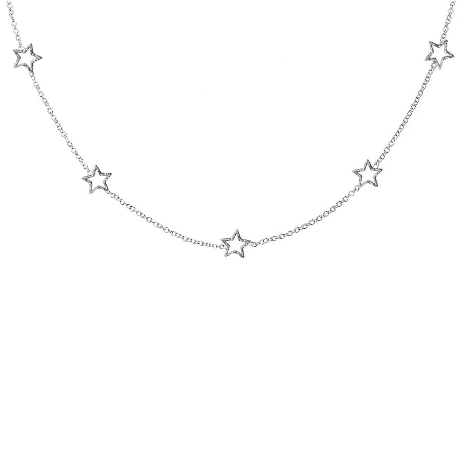 Star Gazer Necklace - Silver