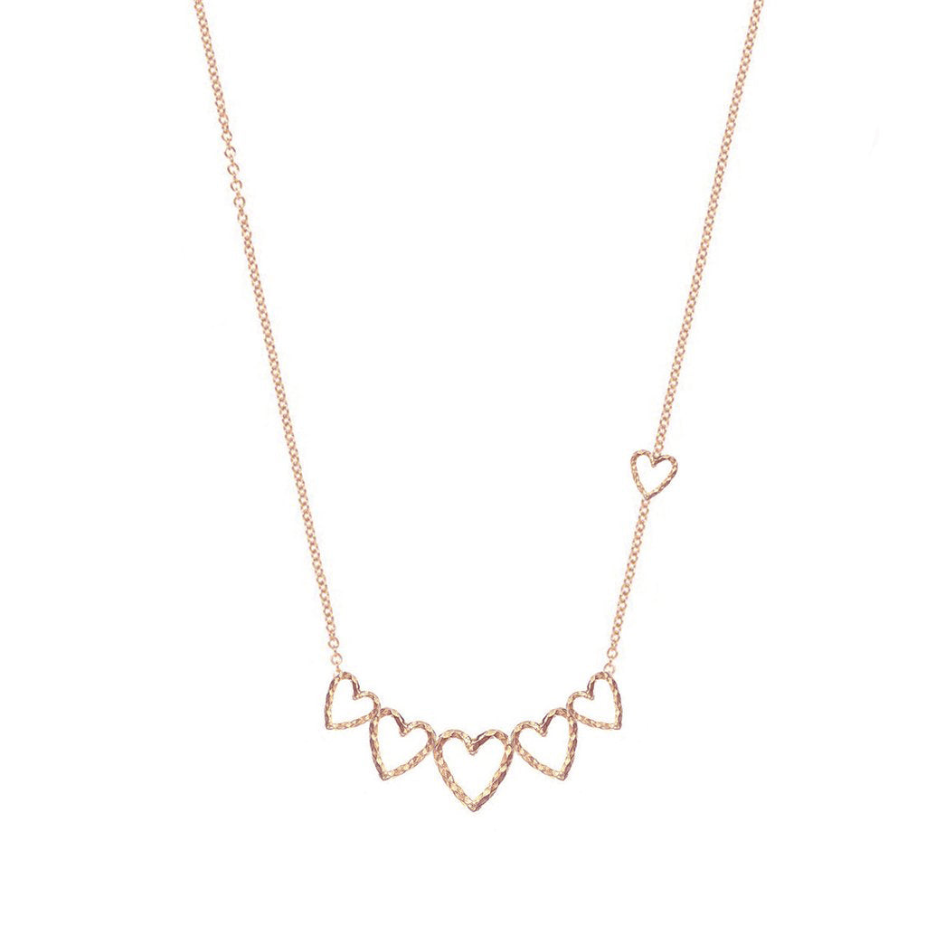 Swing You Some Love Necklace - Rose Gold