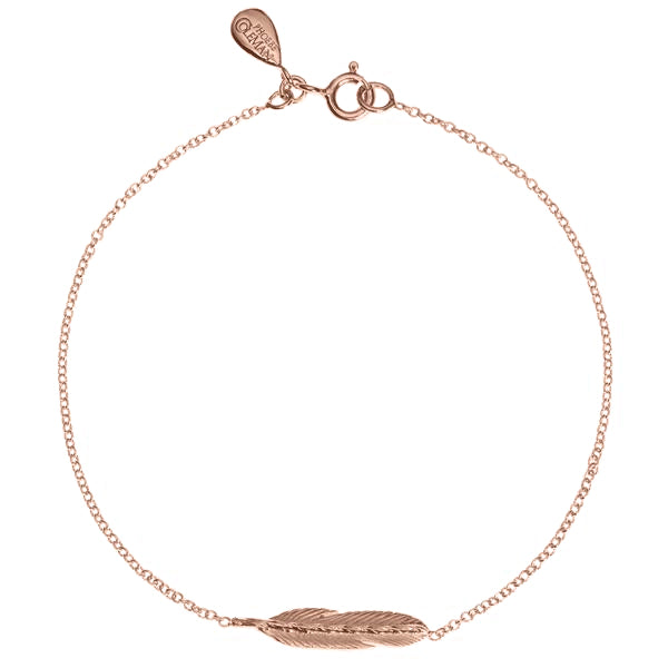 Take Flight Feather Bracelet - Rose Gold