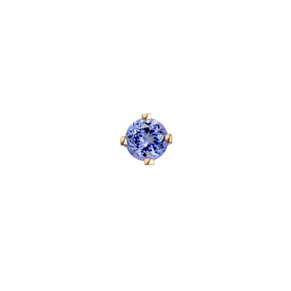 Tanzanite Stud Earring - 9ct Gold