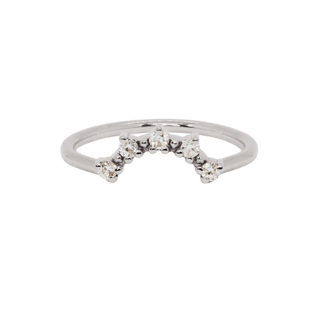 Titania Wedding Band - Salt & Pepper Grey Diamonds