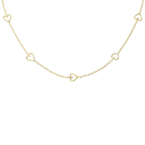 The Loop Of Love necklace in gold.