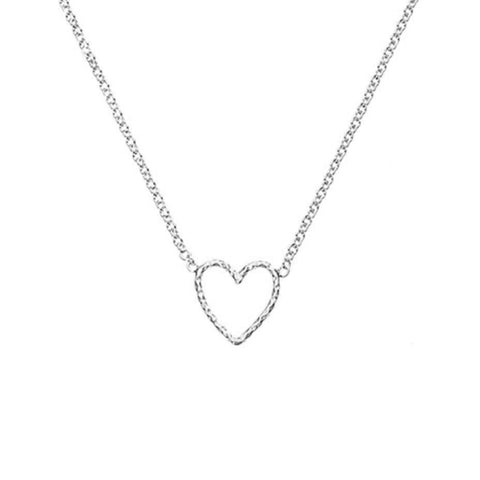 Love Me Tender Heart Necklace - Silver