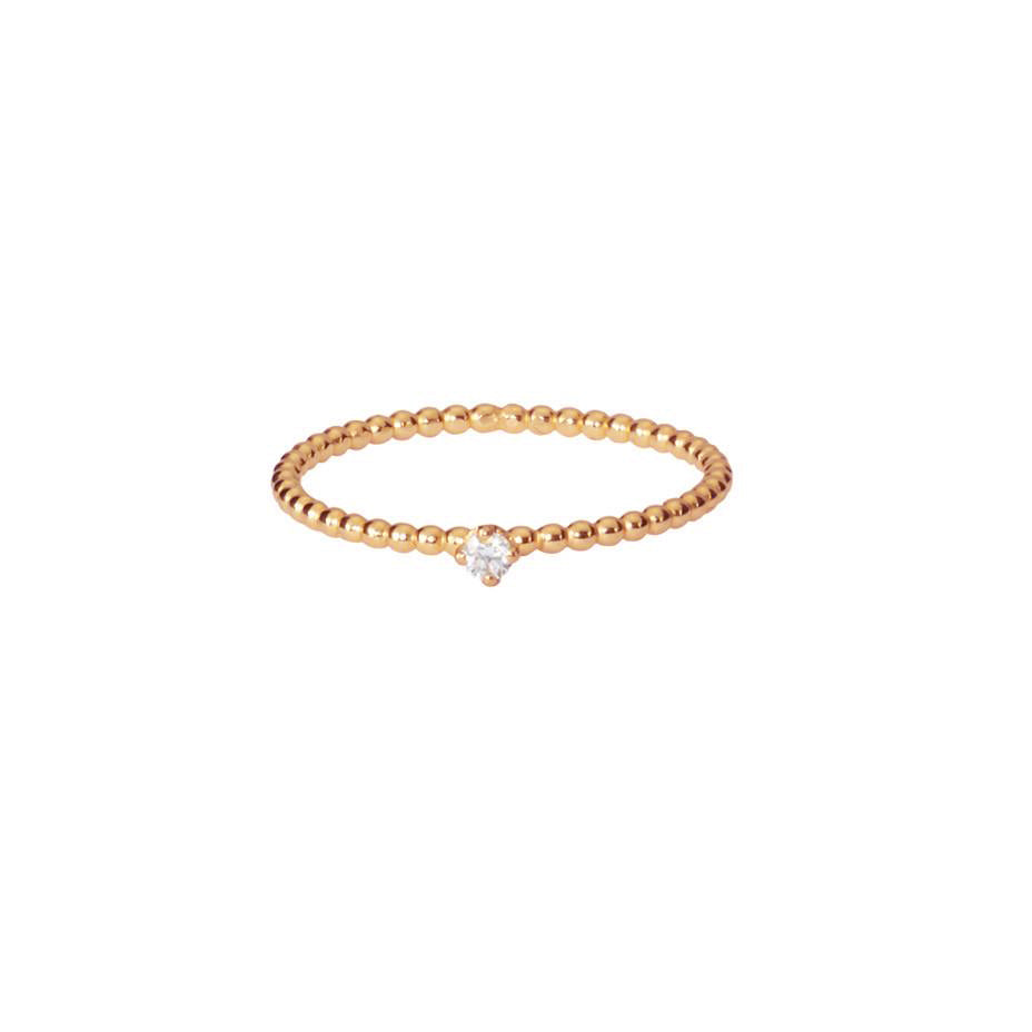 Lily White Diamond Ring - Rose Gold