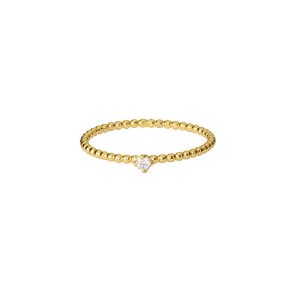 Lily White Diamond ring in gold.