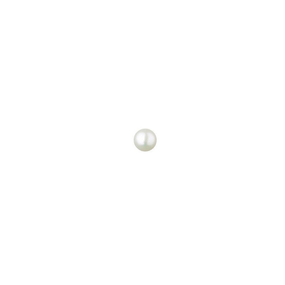 Lunar White Micro Pearl Stud Earring - 9ct gold