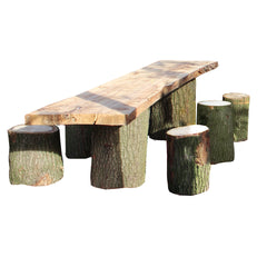 Wood'z buitentafel met hockertjes