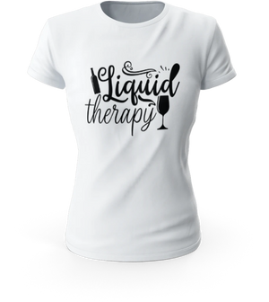 Liquid Therapy Ladies T-shirt-Sua Sponte Design-Sua Sponte Design LLC