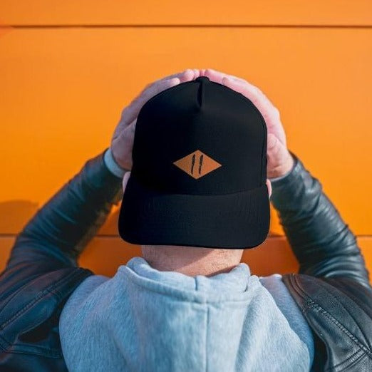 Orange Diamond Trucker Hat