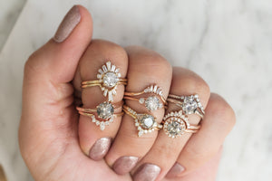 unique diamond engagement rings