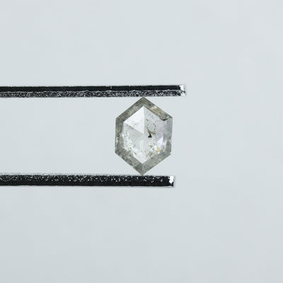 0.53 Carat Salt & Pepper Hexagon Diamond