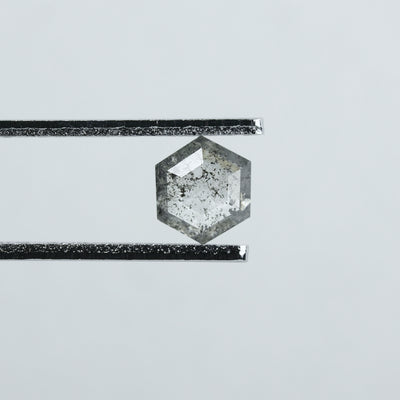 0.72 Carat Salt & Pepper Hexagon Diamond