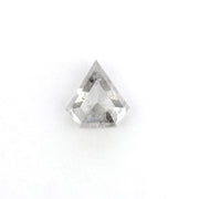 .72 Carat Rose Cut Black Speckled Shield Diamond