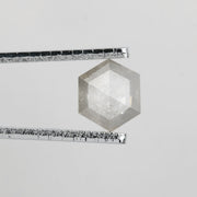 .84 ct Semi-Translucent Grey Hexagon Rose Cut Diamond