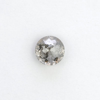 .88 Carat Salt & Pepper Round Rose Cut Diamond