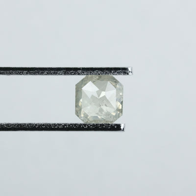 0.90 Carat Icy White Asscher Cut Diamond