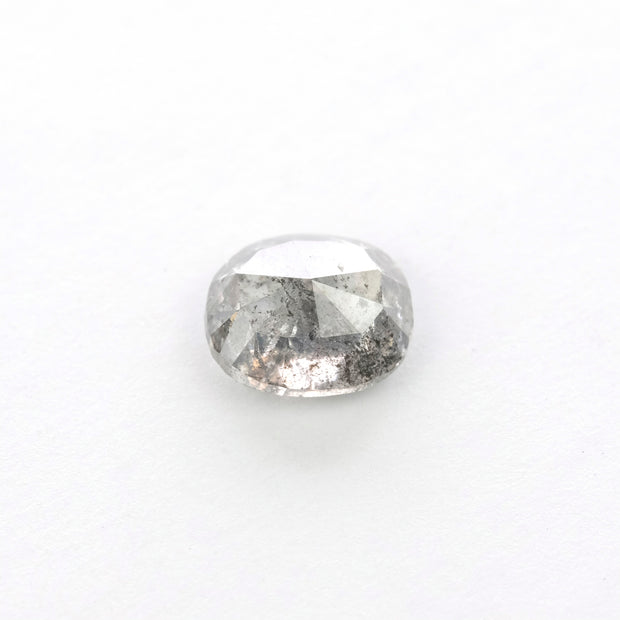 0.91ct Salt & Pepper Oval Rose Cut Diamond